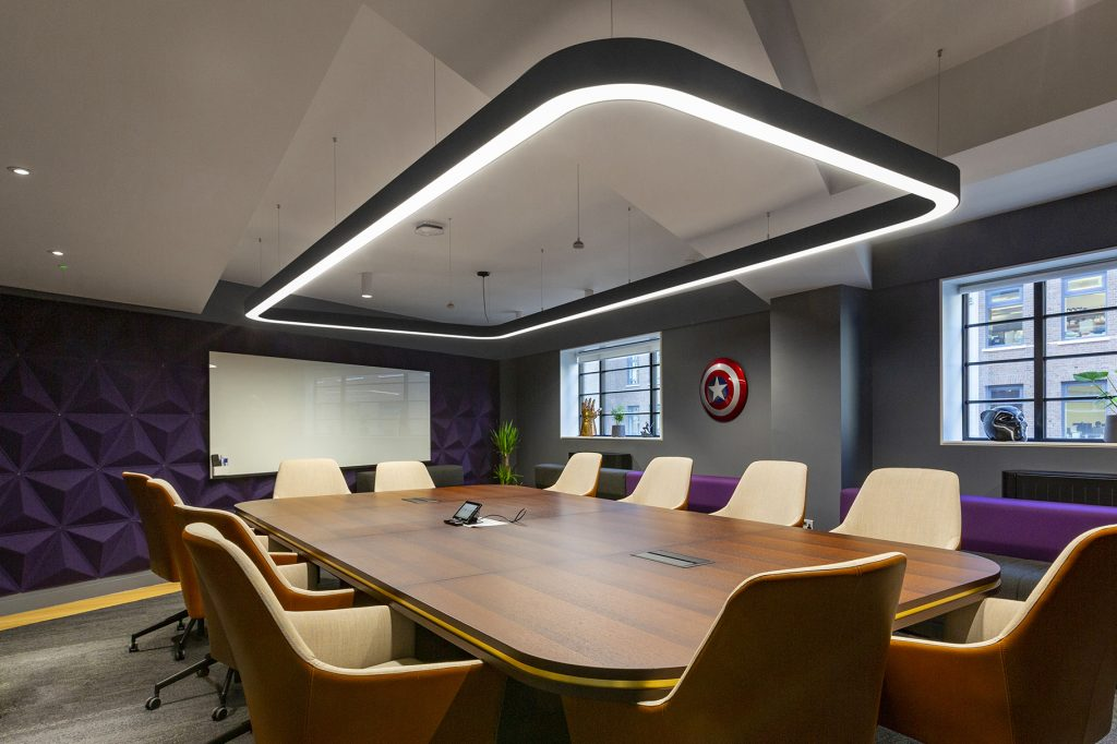 Interior photograph of Twitch Boardroom