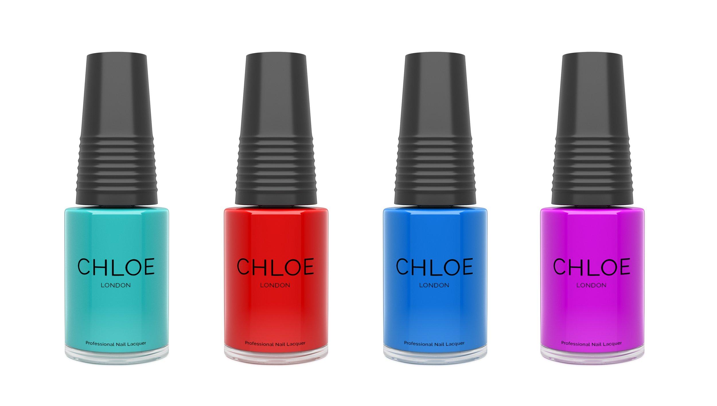 CGI product photograph of chloe nail polish