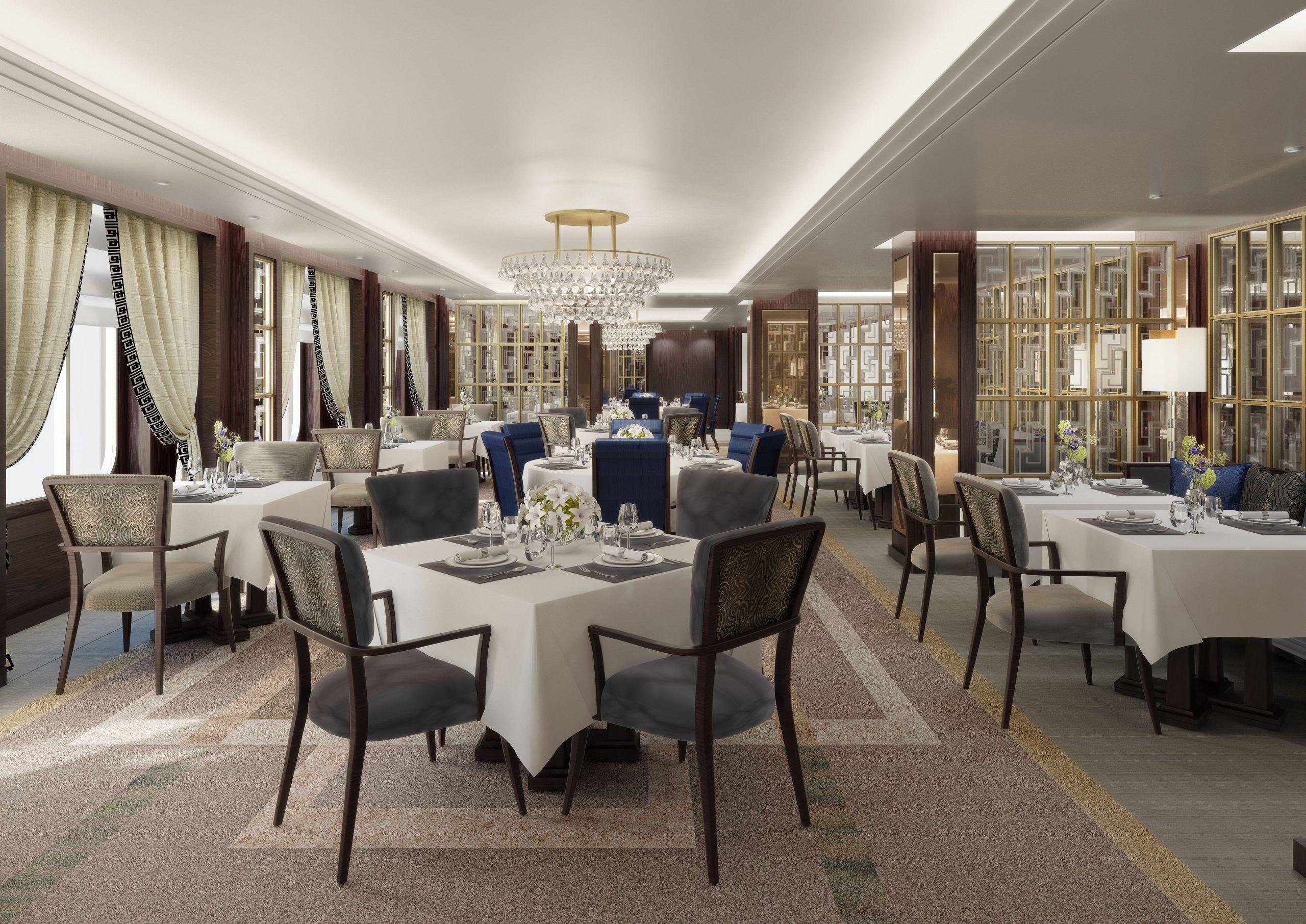 CGI room set of Brittania dining room