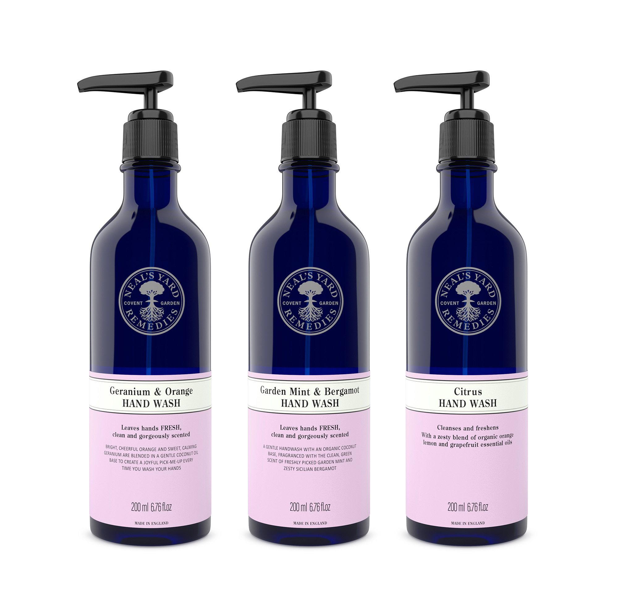 CGI Product photograph of Neal's Yard soaps
